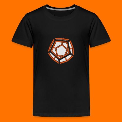 Dodekaeder 3D - Teenager Premium T-Shirt