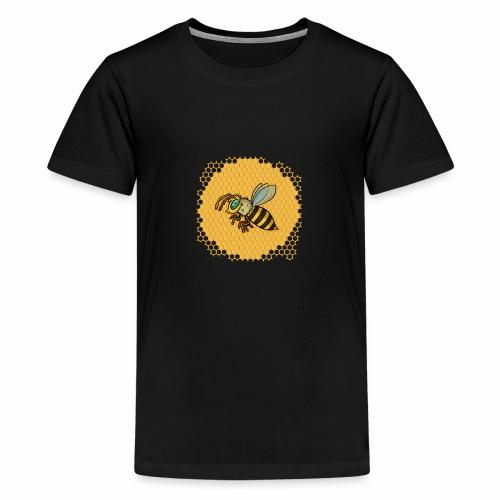 Hexagon Biene - Teenager Premium T-Shirt