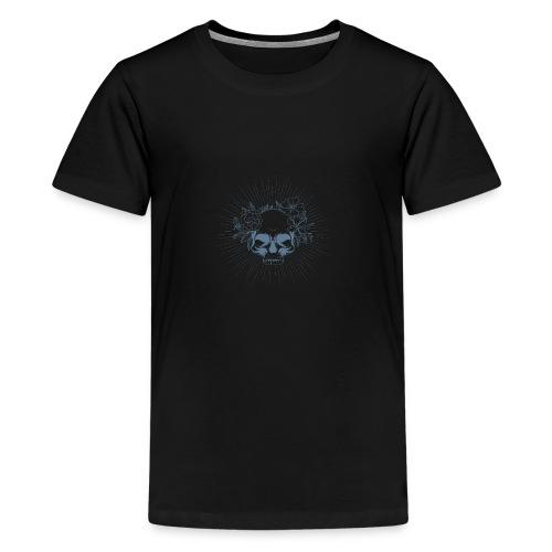 Crâne en fleur - T-shirt Premium Ado