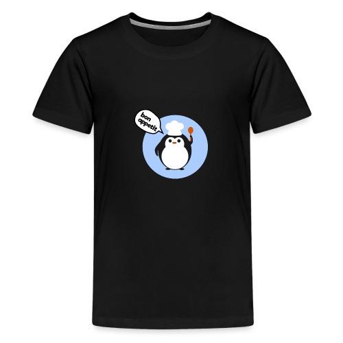 Cute penguin chef - Teenage Premium T-Shirt