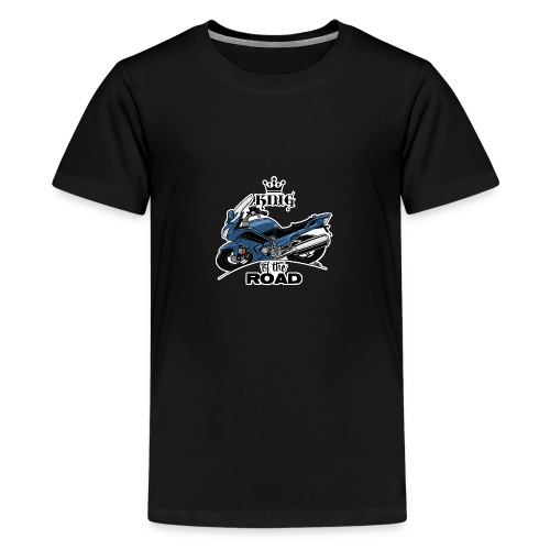 0885 FJR KING of the ROAD (blauw) - Teenager Premium T-shirt