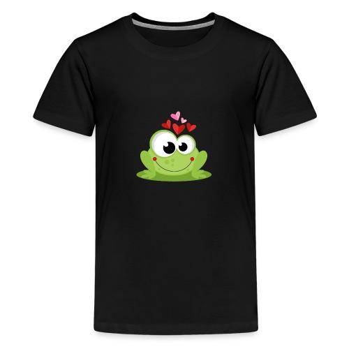 Frog In Love - Camiseta premium adolescente