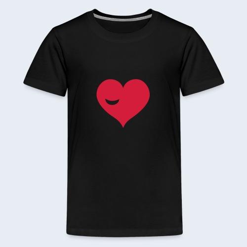 Winky Heart - Teenager Premium T-shirt