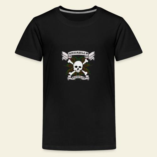 skull back - Teenager premium T-shirt