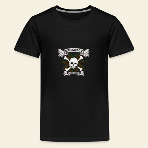 Rockabilly Raredog Skull - Teenager premium T-shirt