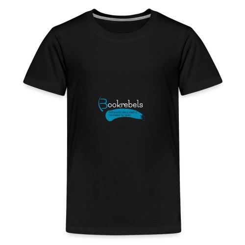 Bookrebels Enthusiastic - White - Teenage Premium T-Shirt