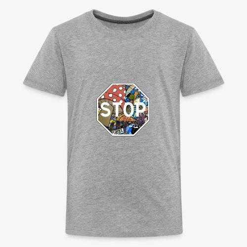 panneau stop pidraw - T-shirt Premium Ado