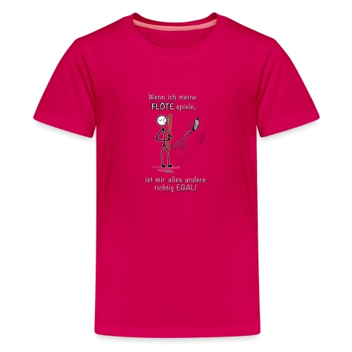 Recorder Love f. dark colours - Teenage Premium T-Shirt