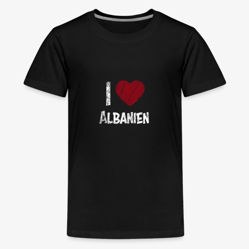 I Love Albanien - Teenager Premium T-Shirt