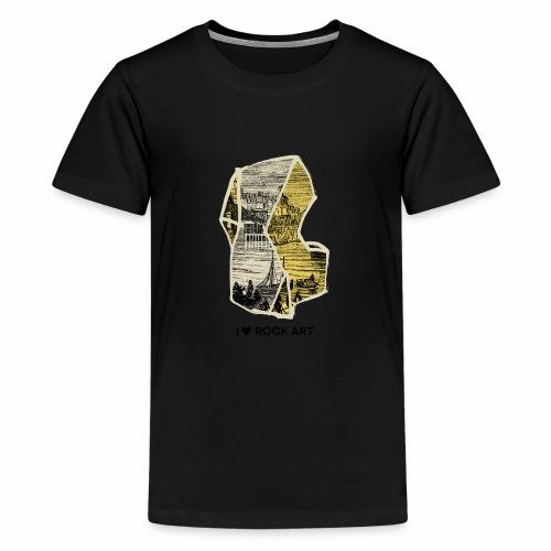 I LOVE ROCK ART No 2 colour - Teenager Premium T-shirt