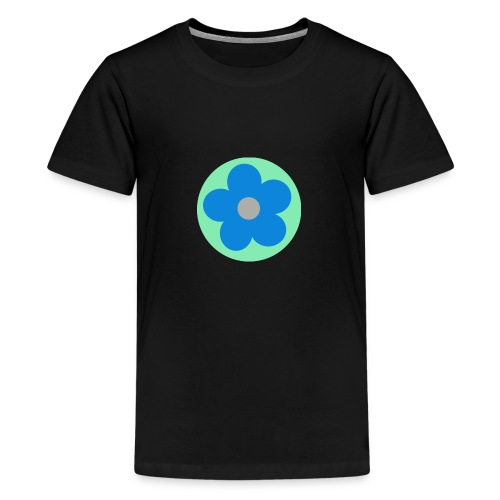 Blaue Blume - Teenager Premium T-Shirt