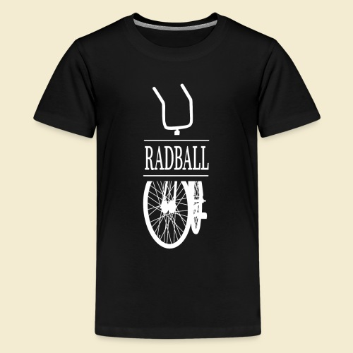 Radball | Retro White - Teenager Premium T-Shirt