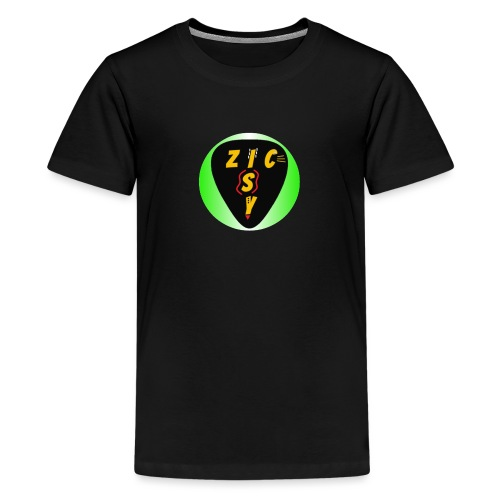 Zic izy rond dégradé vert - T-shirt Premium Ado