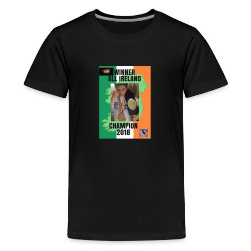 ANT THE CHAMP with 2018 winning belt - Teenage Premium T-Shirt