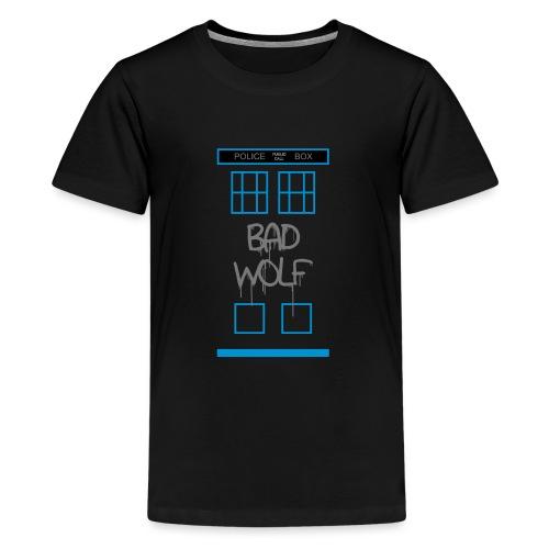 Doctor Who Bad Wolf - Maglietta Premium per ragazzi