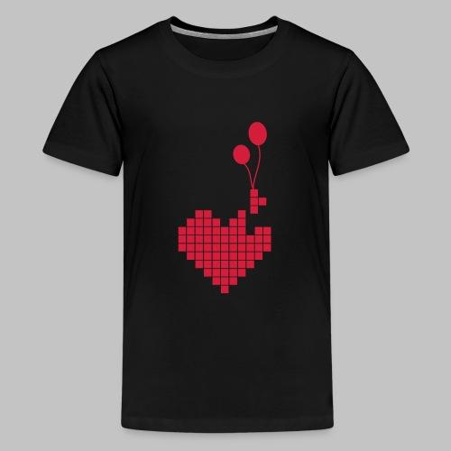 heart and balloons - Teenage Premium T-Shirt