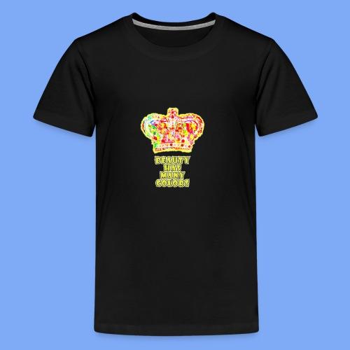 Schönheit hat viele Farben - Teenager Premium T-Shirt