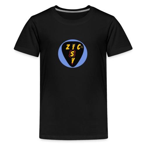 Zic izy rond bleu - T-shirt Premium Ado