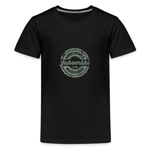 77V-JAKOMÄEN KORKEAKOULU - Stadi, Helsinki - Teinien premium t-paita