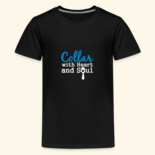 Collar with Heart Soul White Collar Shirts - Teenage Premium T-Shirt