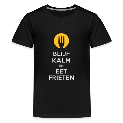 keep calm en eet frieten - T-shirt Premium Ado