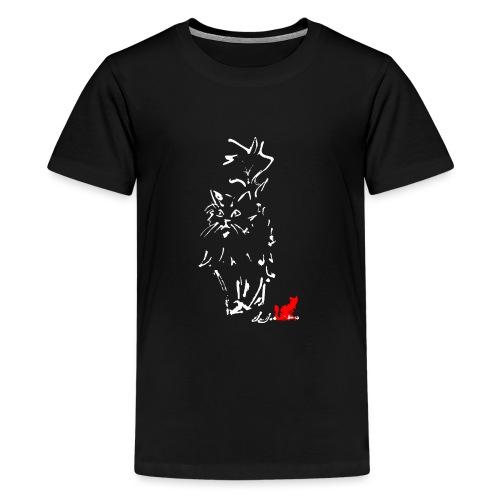 GATTO A PELO LUNGO - Maglietta Premium per ragazzi