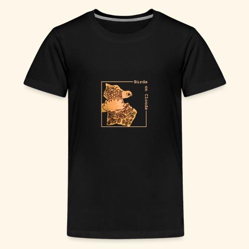 Birds on Clouds fågel med ram - Premium-T-shirt tonåring