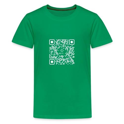 QR The New Internet Should not Be Blockchain Based W - Teenage Premium T-Shirt