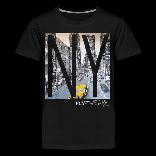 TIME SQUARE - Teenager Premium T-Shirt