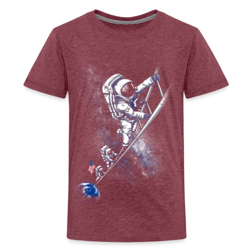 July 1969 spaceman - Teenage Premium T-Shirt