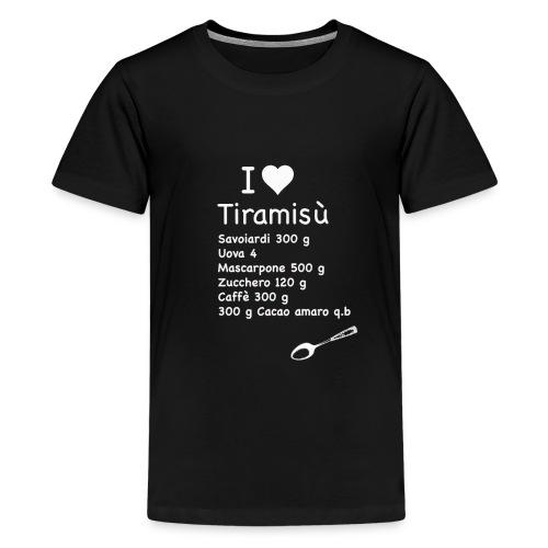 i love tiramisù - Maglietta Premium per ragazzi