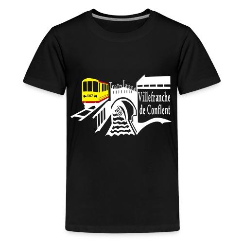 train jaune villefranche de conflent - Teenager Premium T-Shirt