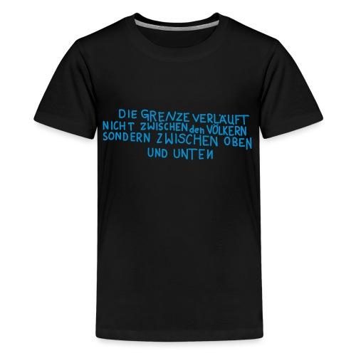 Graffiti: Oben und Unten - Teenager Premium T-Shirt