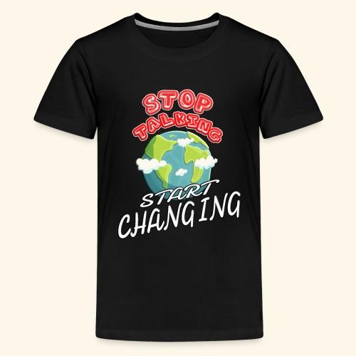 Klimaschutz Klimaerwärmung friday for future Demo - Teenager Premium T-Shirt