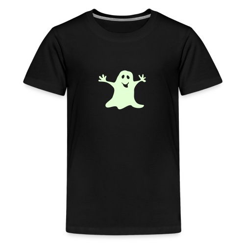 Gespenst einfarbig Halloween T-shirt - Teenager Premium T-Shirt