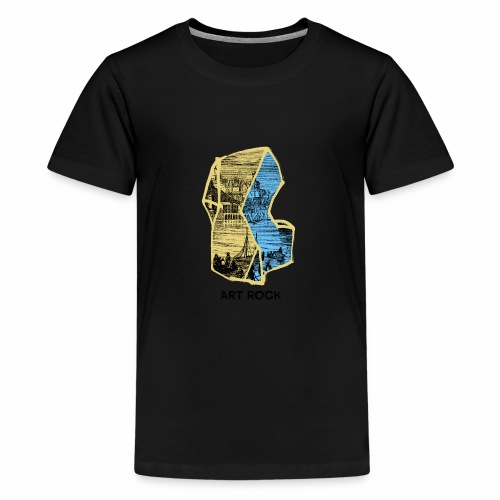 ART ROCK No 4 colour - Teenager Premium T-shirt