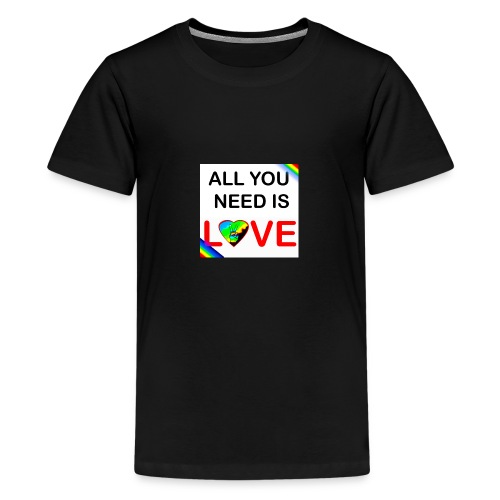 all you need is peace and love - T-shirt Premium Ado