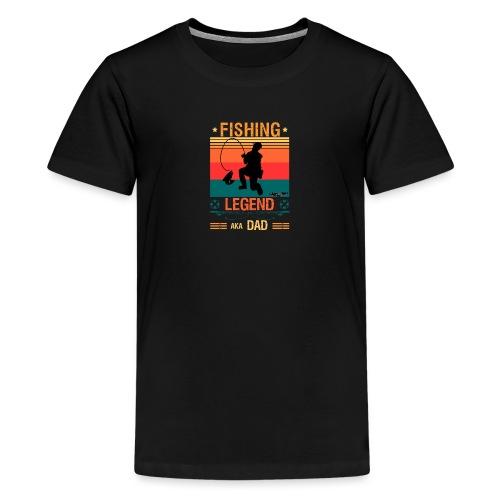 Fiskelegend Även Kallad Pappa Roliga Pappa tshirt - Premium-T-shirt tonåring