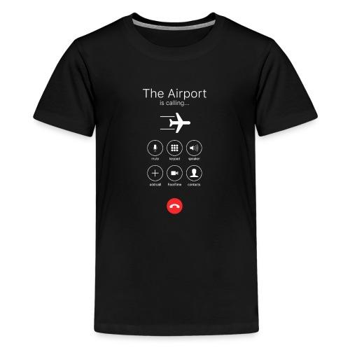 Lotnisko dzwoni - białe - Koszulka młodzieżowa Premium