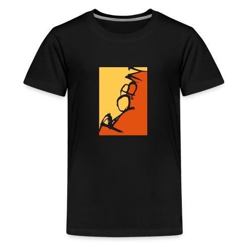 Männer-T-Shirt Robin scripted, schwarz - Teenager Premium T-Shirt