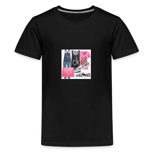 outfit pace e amoreio amo il colore - Maglietta Premium per ragazzi
