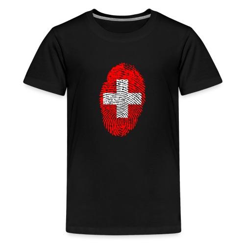 T-shirt imprimé drapeau suisse - T-shirt Premium Ado