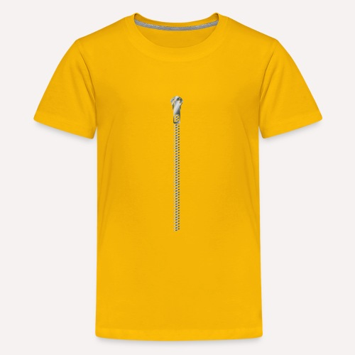 Zipper print - Teenage Premium T-Shirt