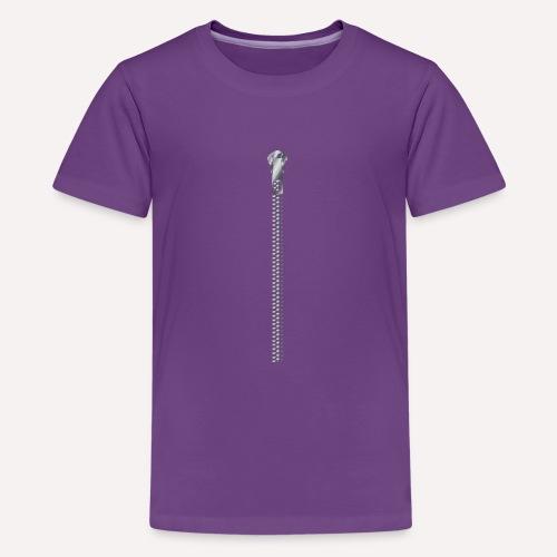 Zipper Funny Surprising T-shirt, Hoodie,Cap Print - Teenage Premium T-Shirt