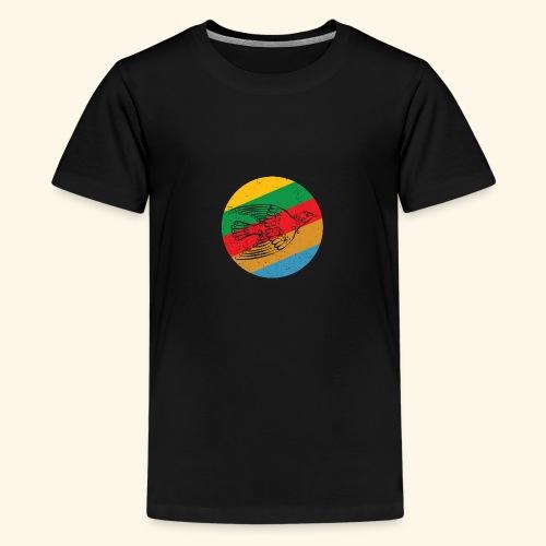 Grenadian Dove Retro - Teenage Premium T-Shirt