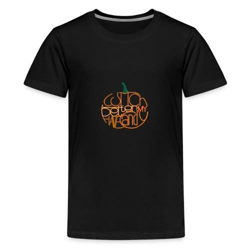 Græskar med citat - Teenager premium T-shirt