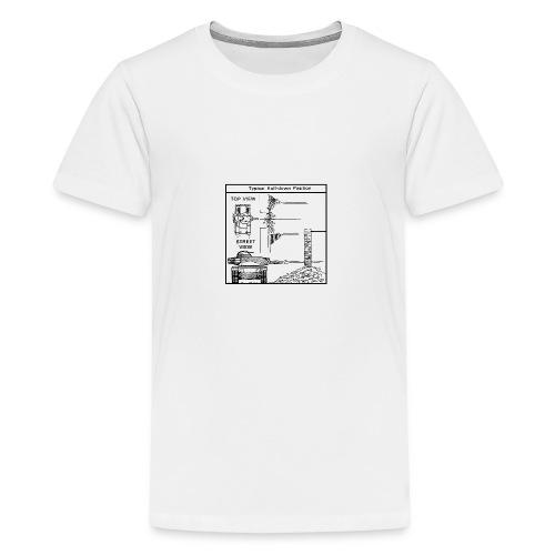 W.O.T War tactic, tank shot - Teenage Premium T-Shirt