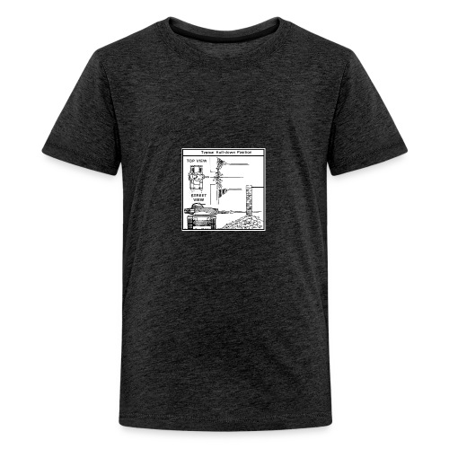 W.O.T War tactic, tank shot - Teenage Premium T-Shirt
