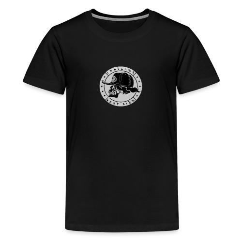 skull 13 milles noir et gris super design - T-shirt Premium Ado