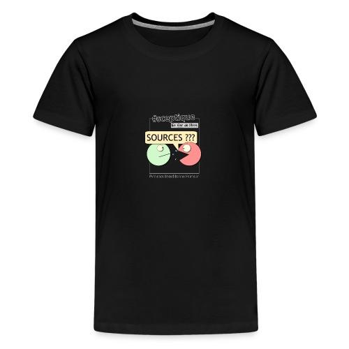 Sceptique et fier de l'être ! (Homme) - T-shirt Premium Ado